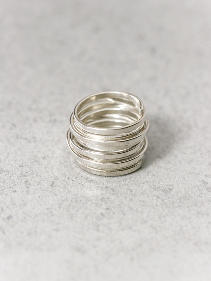 Flat Stacked Swirl Ring Sterling Silver from kellinsilver.com