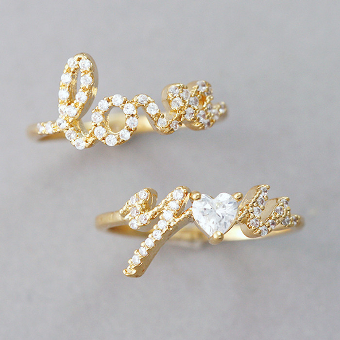 CZ Gold Love Your Ring Set from kellinsilver.com