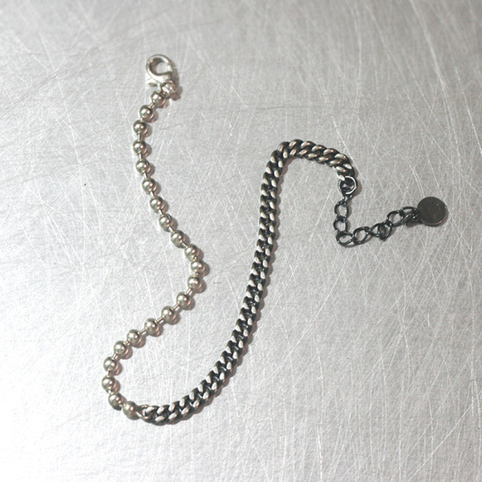 Ball and Oxidized Silver Chain Bracelet from kellinsilver.com