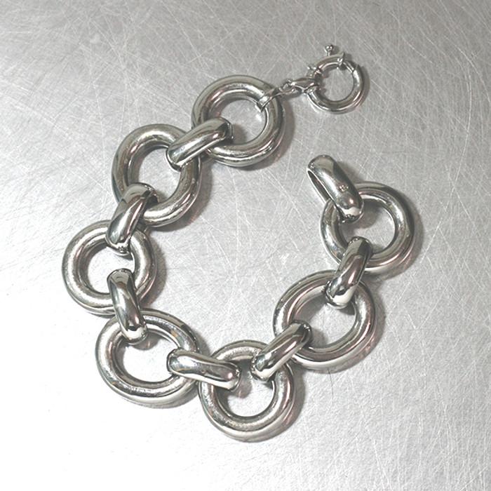 Sterling Silver Bold Rolo Chain Bracelet from kellinsilver.com