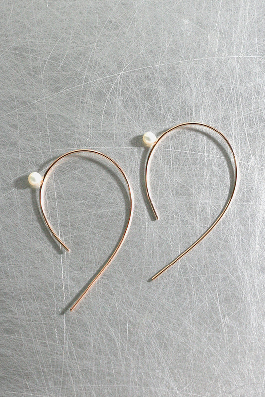Emily Curved Wire Earrings Sterling Silver Kellinsilver Com