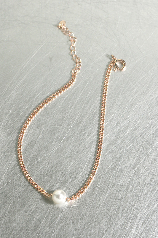 Swarovski Pearl Rose Gold Chain Bracelet Sterling Silver from kellinsilver.com