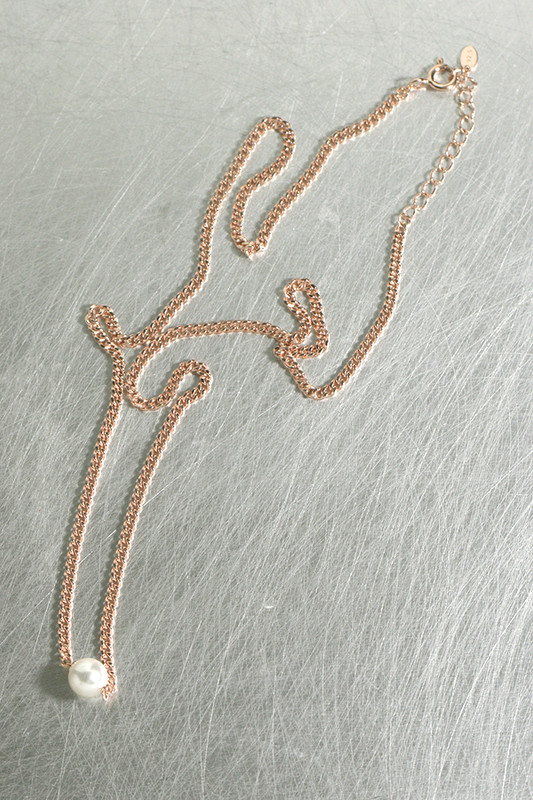 Swarovski Pearl Rose Gold Chain Necklace Sterling Silver from kellinsilver.com