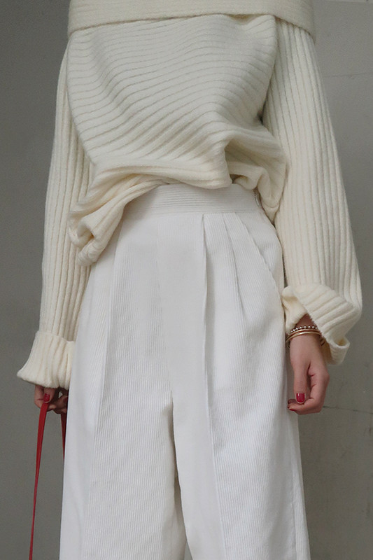Ivory Off Shoulder Knit Top on kellinsilver.com