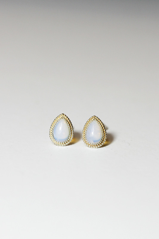 Sterling Silver Small Teardrop Opal Stud Earrings from kellinsilver.com