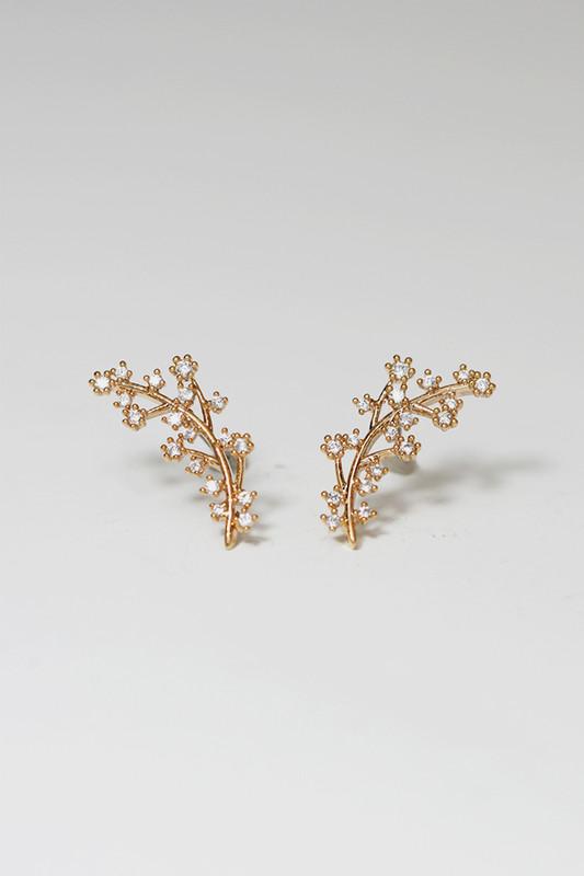Rose Gold Olive Leaf Stud Earrings on kellinsilver.com