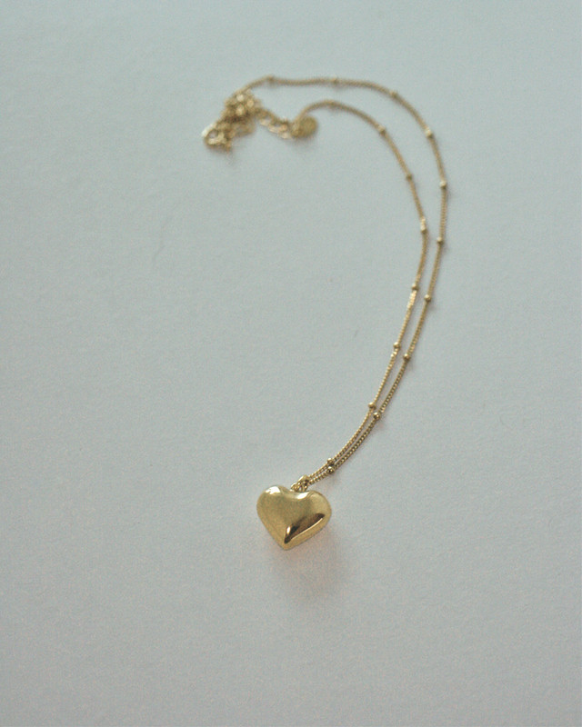 Gold 3D Heart Necklace Sterling Silver from kellinsilver.com