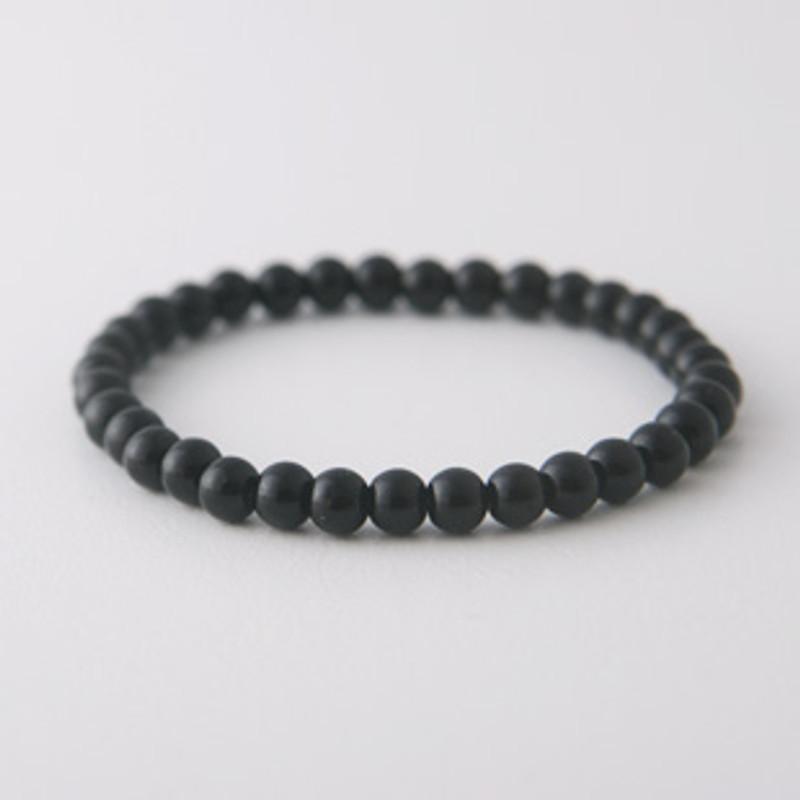 5mm Black Onyx Bead Bracelet