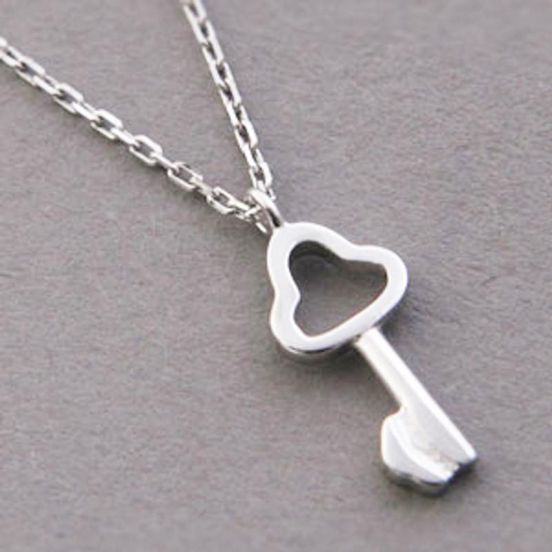 Tiny Clover Skelection Key Necklace Sterling Silver