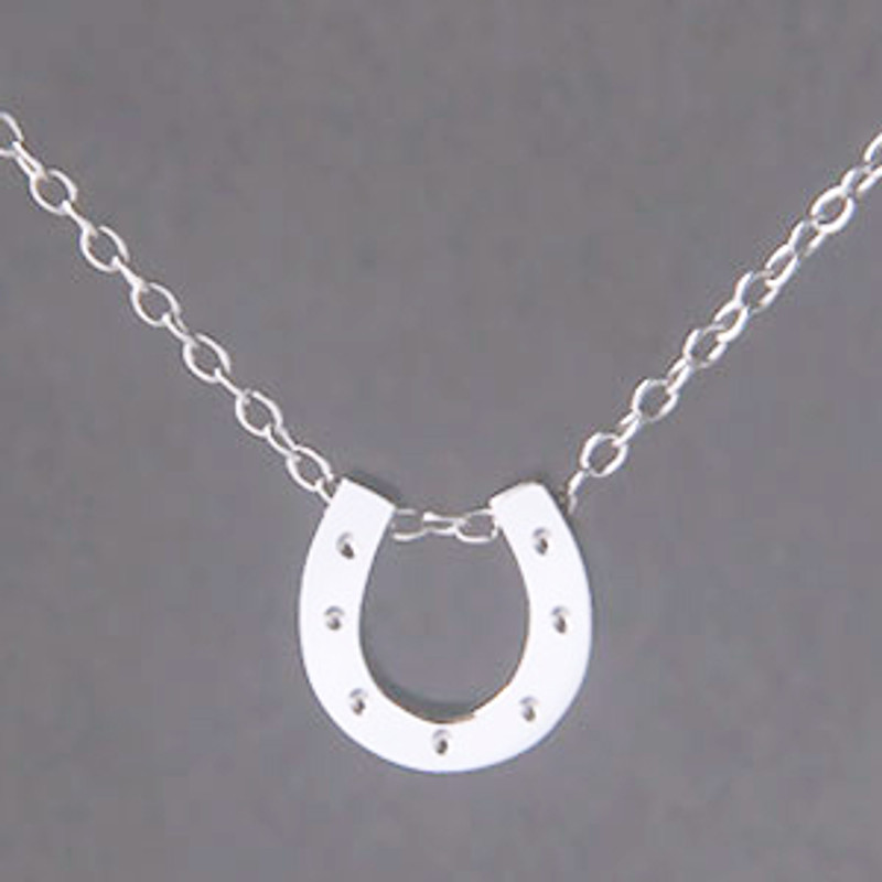 White Gold Horseshoe Necklace Sterling Silver from kellinsilver.com