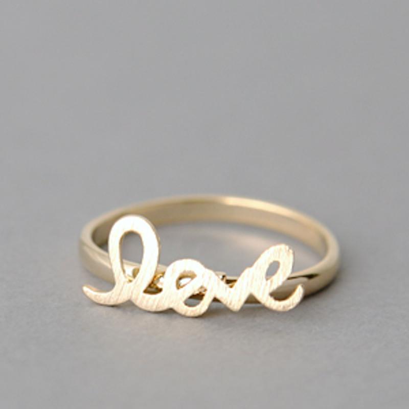 Blushed Gold Love Ring