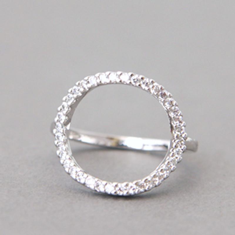 Swarovski Circle Ring White Gold from kellinsilver.com