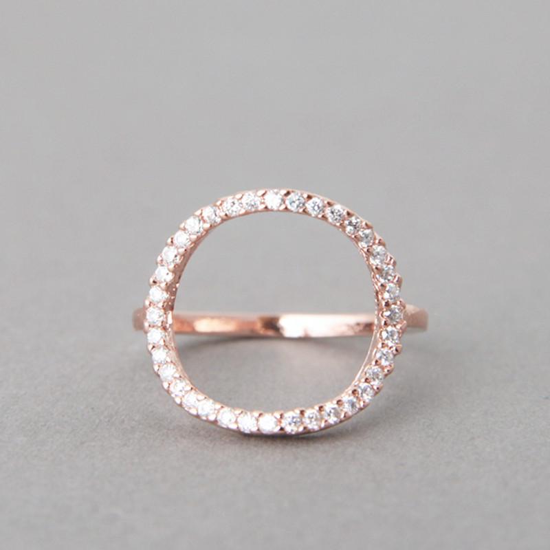 Swarovski Circle Ring Rose Gold from kellinsilver.com