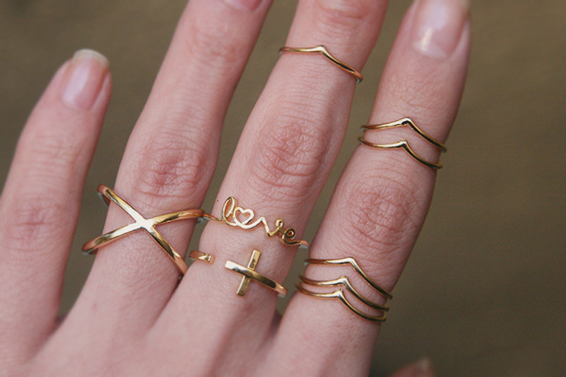 Geometric Infinity Ring Gold from kellinsilver.com