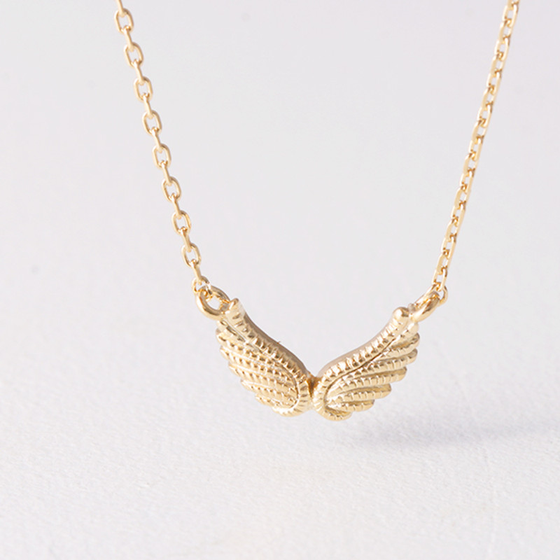 Gold Angel Wing Necklace Sterling Silver from Kellinsilver.com