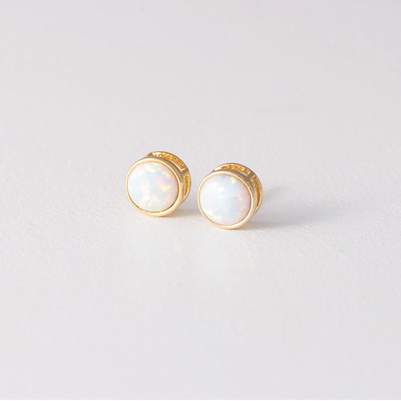 Gold Opal Studs Earrings from kellinsilver.com
