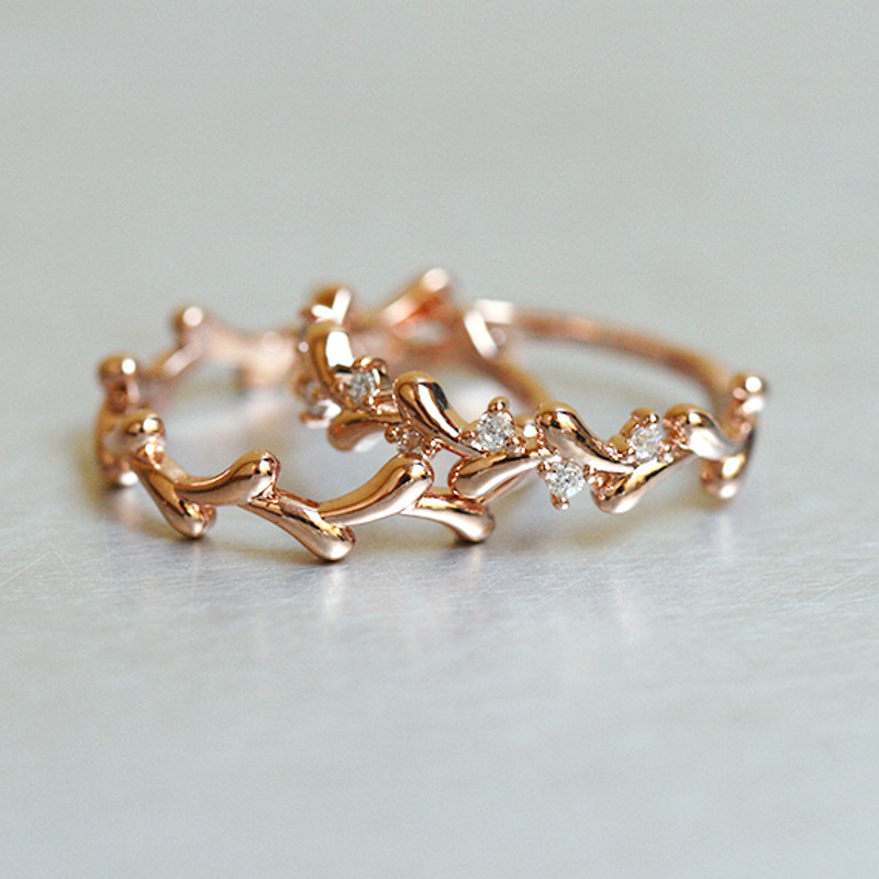 rose gold olive ring set of 2 from kellinsilver.com