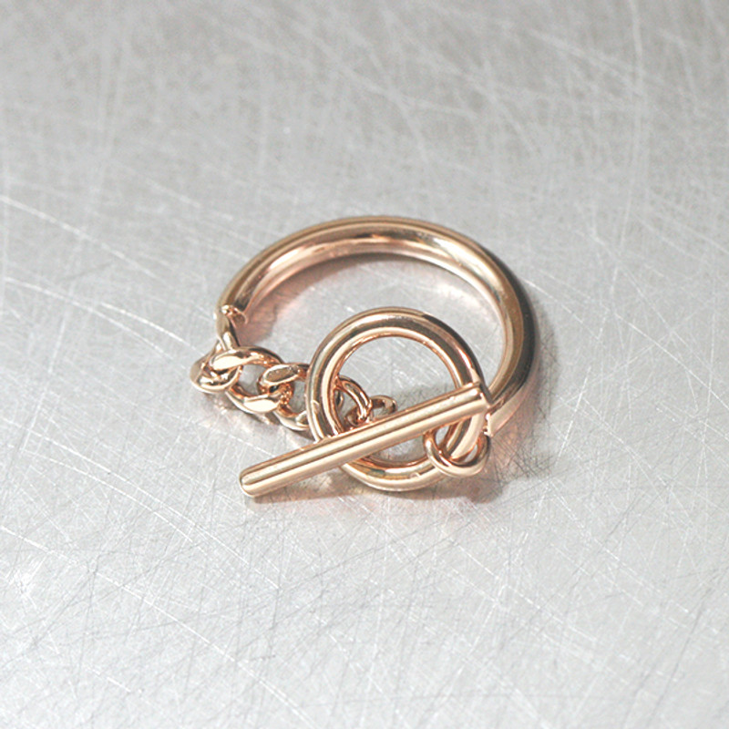 Rose Gold O Ring Buckle Knot Ring Sterling Silver from kellinsilver.com