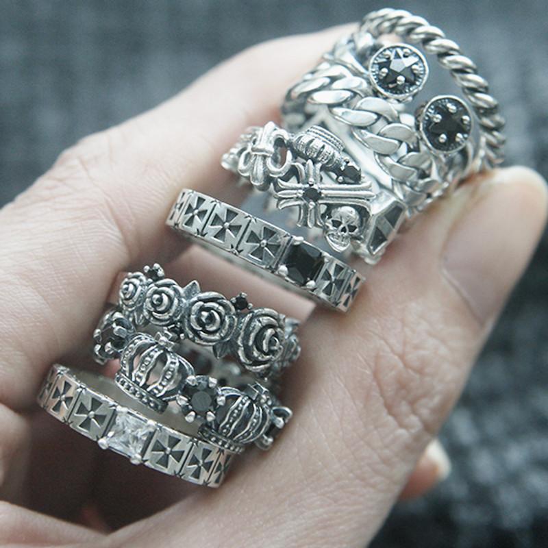 Sterling Silver Celtic Cross Skull Ring from kellinsilver.com
