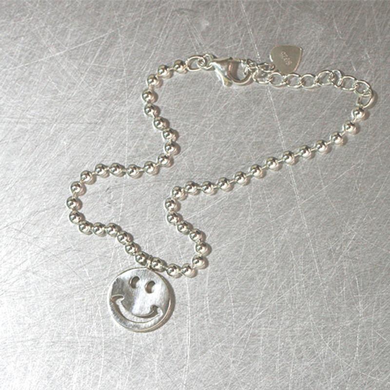 Sterling Silver Smile Ball Bracelet Anklet from kellinsilver.com