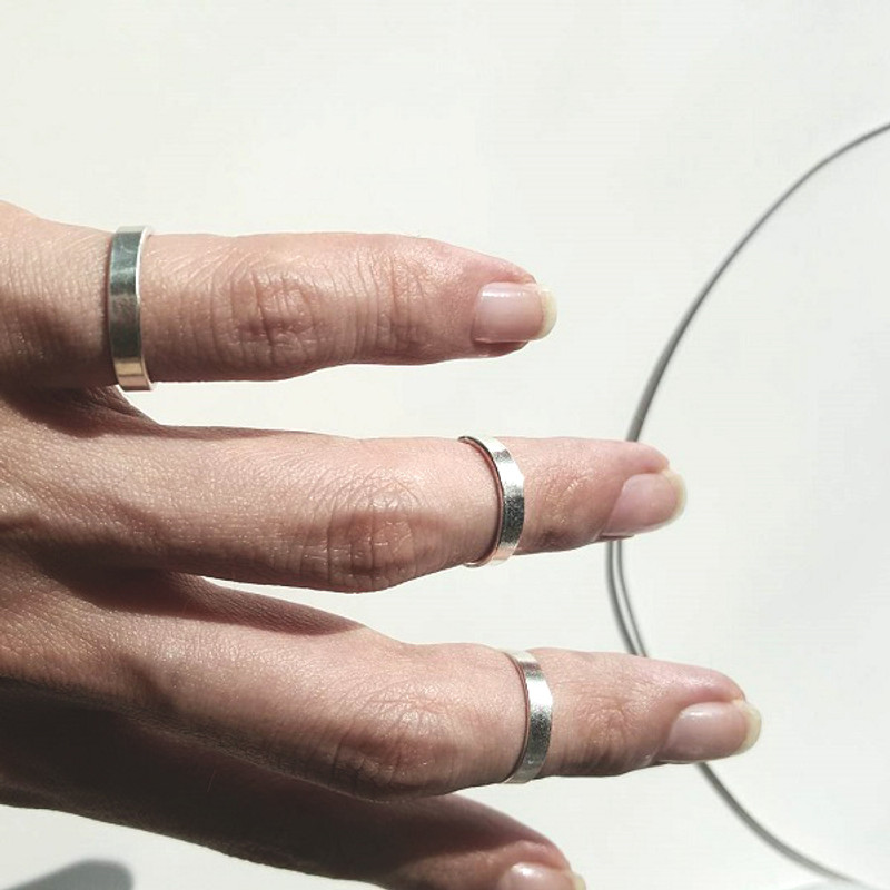 3mm Wide Sterling Silver Midi Ring Cuff from kellinsilver.com