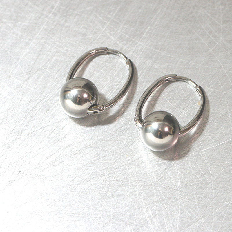 Sterling Silver Ball Leverback Earrings from kellinsilver.com