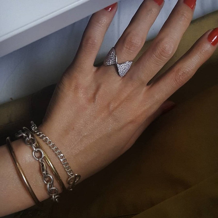 Sterling Silver Toggle Half Chain Bracelet from kellinsilver.com