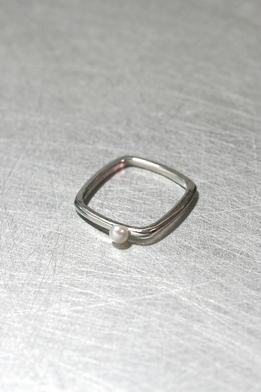 Pearl Square Ring Sterling Silver from kellinsilver.com