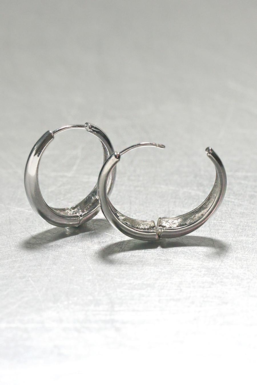 sterling Silver Hinge Oval Hoop Earrings 25mm from kellinsilver.com