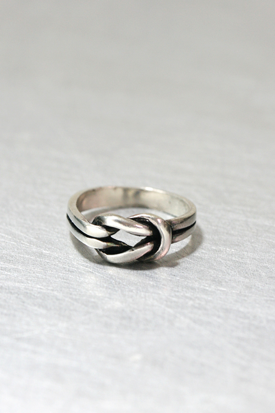 Oxidized Promise Knot Ring Sterling Silver from kellinsilver.com
