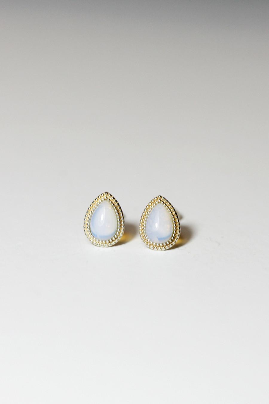 Sterling Silver Small Teardrop Opal Stud Earrings from kellinsilver.com