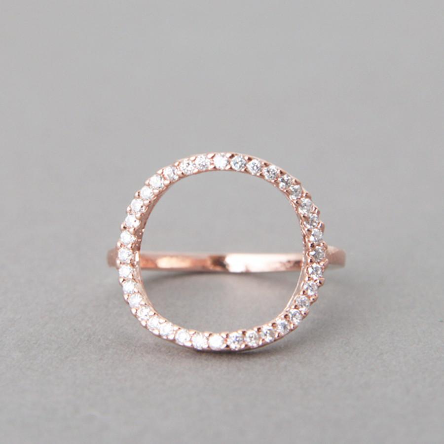 swarovski circle ring rose gold. Black Bedroom Furniture Sets. Home Design Ideas