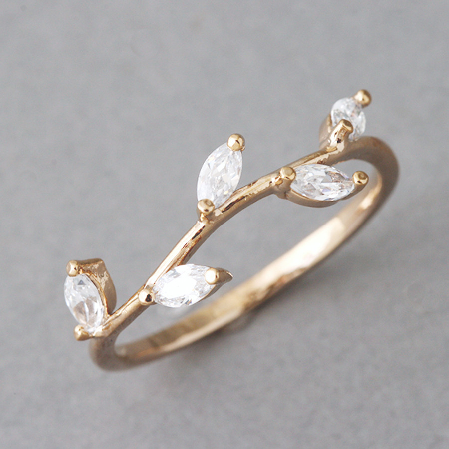 Rose Gold Olive Leaf Ring from kellinsilver.com