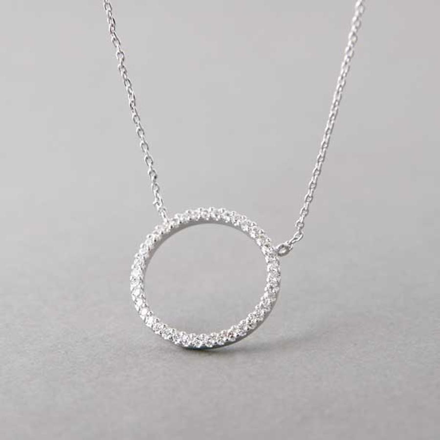 Swarovski white gold outline circle necklace sterling silver swarovski white gold outline circle necklace sterling silver from kellinsilver aloadofball Gallery