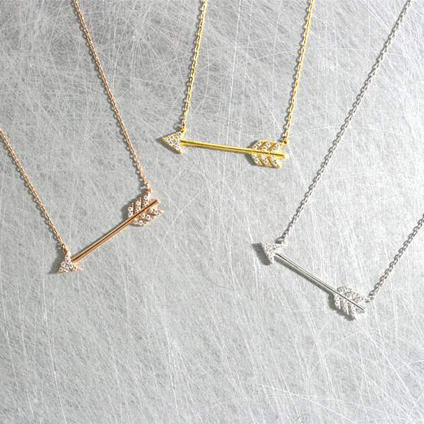 small collections circle minimal everyday and arrow grande wedding products silver short the heart or delicate dainty henley simple gold bridesmaids necklace necklaces img