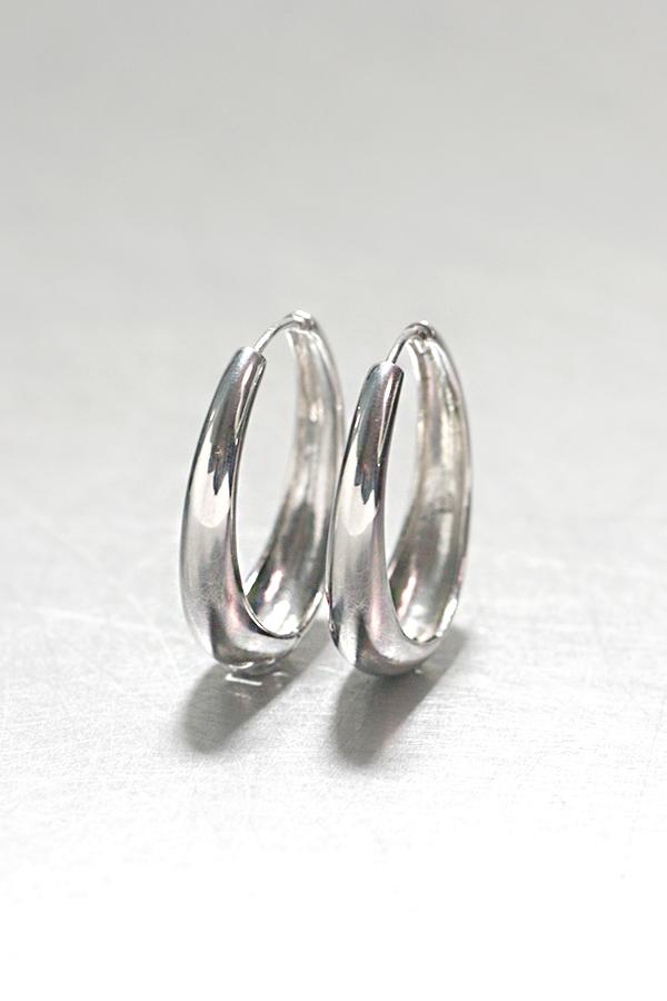 sterling Silver Hinge Oval Hoop Earrings 30mm from kellinsilver.com