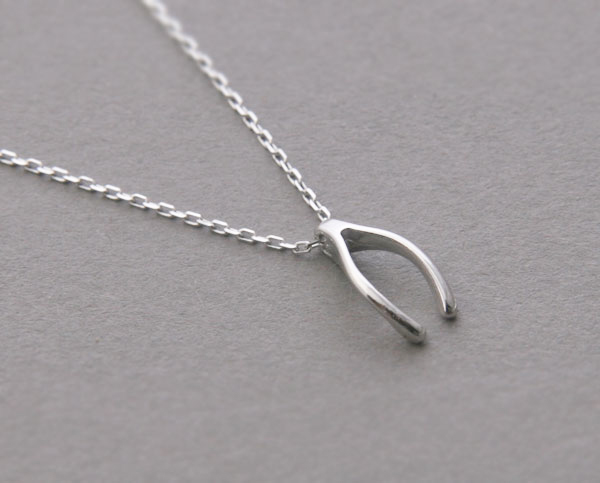 White gold wishbone necklace sterling silver kellinsilver white gold wishbone necklace sterling silver from kellinsilver aloadofball Image collections