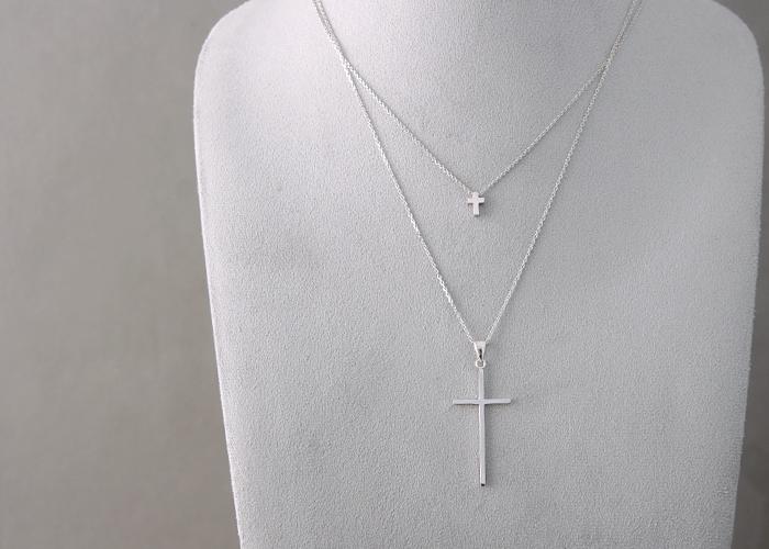 Tiny Cross Necklace Sterling Silver Kellinsilver Com