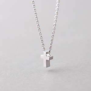 Tiny cross necklace sterling silver kellinsilver aloadofball Images
