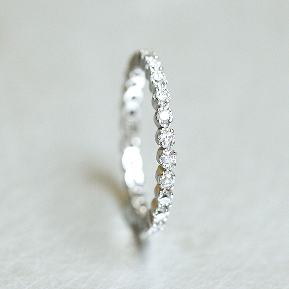 Sterling Silver CZ Eternity Ring White Gold from kellinsilver.com