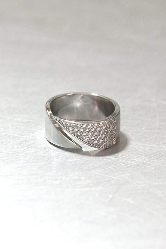 Cz Pave Pointed Ring Sterling Silver Kellinsilver Com