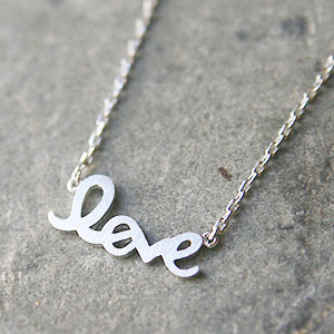 Silver Love Script Necklace Kellinsilver Com