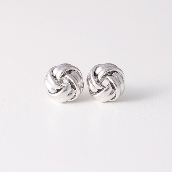 women twist plated com girl post earrings knot for stud rose amazon dp buycitky heart gold love