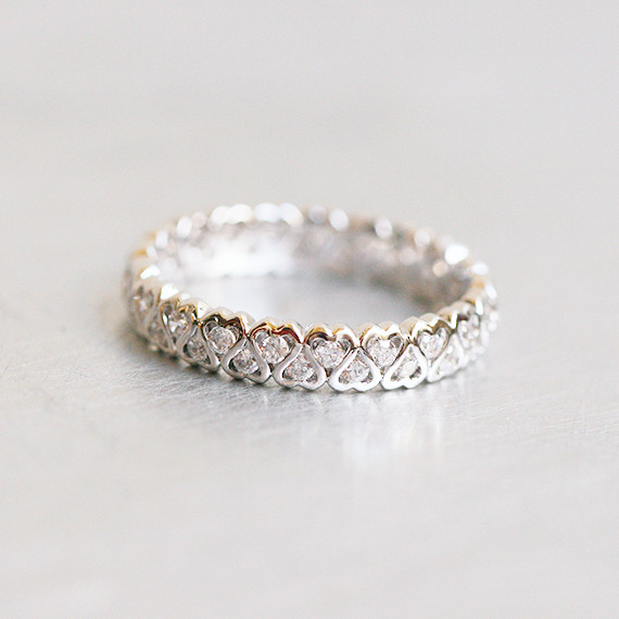 by eternity i ring jay silver band clear and cut cz round baguette bands kenneth lane