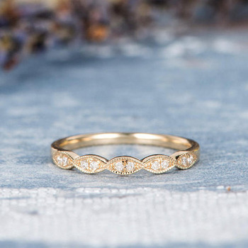 Half Eternity Band Diamond Wedding Bridal Ring