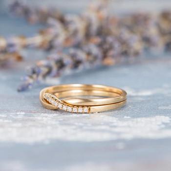 Unique Wedding Band Diamond Women Wedding Ring