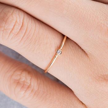 Diamond Wedding Band Women Stacking Ring