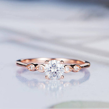5mm Round Moissanite Anniversary Ring Diamond Wedding Ring