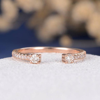 Rose Gold Open Eternity Band Wedding Band
