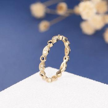 Full Eternity Diamond Sapphire Stacking Milgrain Wedding Band